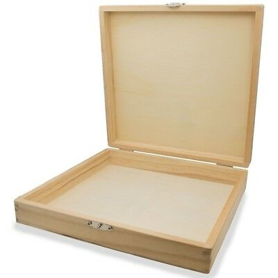 Blank Unfinished Unpainted Blank Wooden Gift Box 8.25 Inches x 8.5 Inches