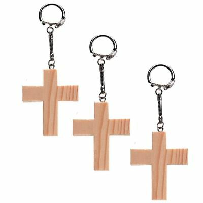 Set of 3 Blank Unfinished Wooden Crosses 2.4 Inches