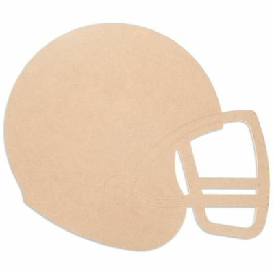 Blank Unfinished Wooden Football Helmet Cut Out 11.6 Inches