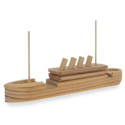Blank Unfinished Wooden Titanic Building Model Kit 7.25 Inches