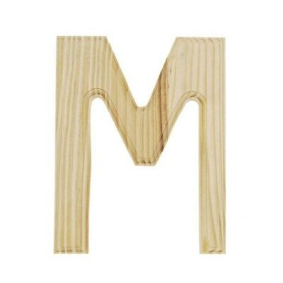 Unfinished Wooden Letter M 6 Inches