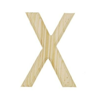 Unfinished Wooden Letter X 6 Inches