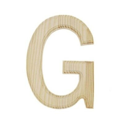 Unfinished Wooden Letter G 6 Inches