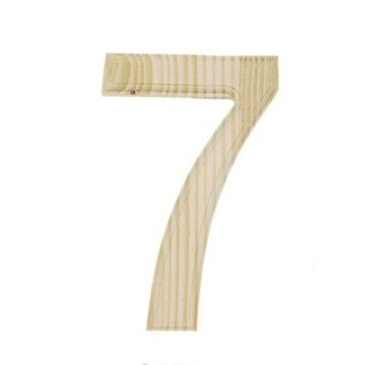 Unfinished Wooden Number 7 (Seven) 6 Inches