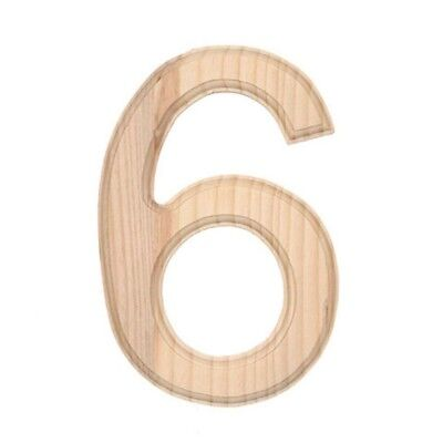 Unfinished Wooden Number 6 (Six) 6 Inches