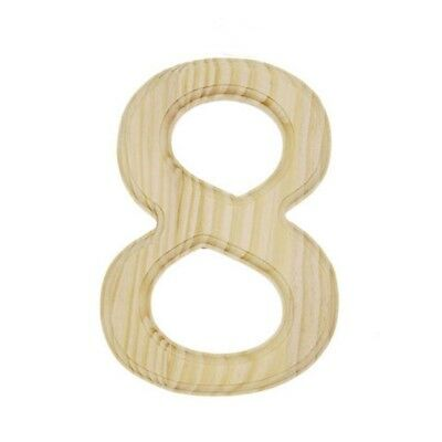 Unfinished Wooden Number 8 (Eight) 6 Inches