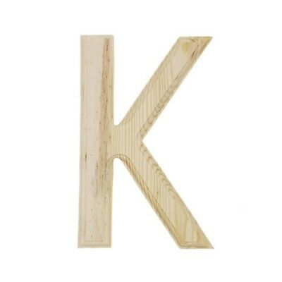 Unfinished Wooden Letter K 6 Inches