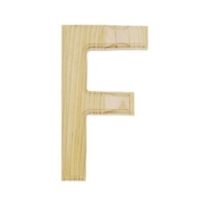 Unfinished Wooden Letter F 6 Inches