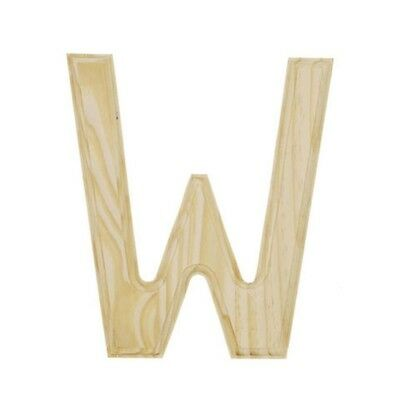 Unfinished Wooden Letter W 6 Inches