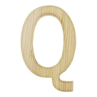 Unfinished Wooden Letter Q 6 Inches
