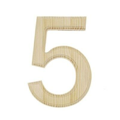 Unfinished Wooden Number 5 (Five) 6 Inches