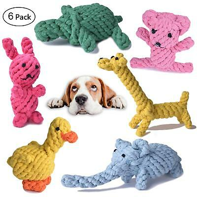 Dog Rope Toys Cotton Chew Toys for Puppy, Small Dogs, Value Pack (6 Pack)