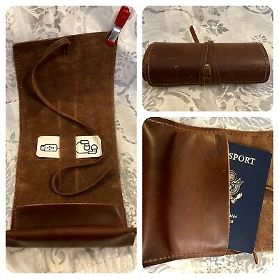 Leather Cord Wrap in Saddle Color Passport Pouch Accessories RUSTICO SIDEKICK