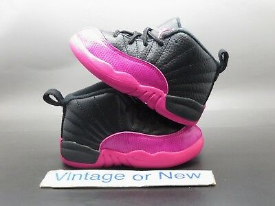 7cb1323aa09 Girls' Nike Air Jordan XII 12 Black Deadly Pink 2017 Retro GT 819666-026