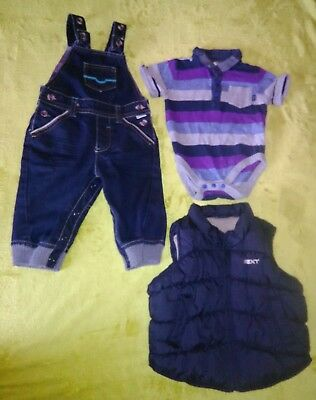 Ted Baker Dungarees  and  Body, Next Vest Size: 6-9 Months