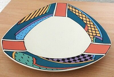 2 Rosenthal Studio Line Flash line Triangular Plates Designed By Dorothy Hefner