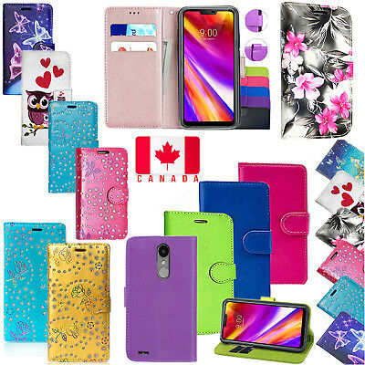 For LG K4 / K8 2017 Luxury PU Leather Magnetic Wallet Flip Stand Case Cover