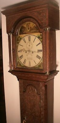 "Antique Carved Light Oak  8 Day  "" Carmarthen ""  Longcase / Grandfather  Clock"