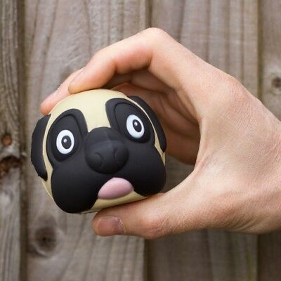 Pug Dog Stress Ball Anti Stressball Strain Relief Novelty Autism Squeeze Toy