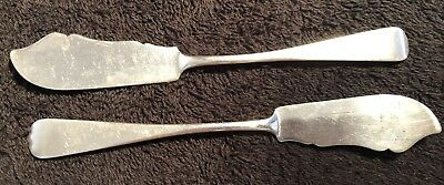 Pair Of Late Victorian Sterling Silver Butter Spreaders ,1902,Birmingham,-30g