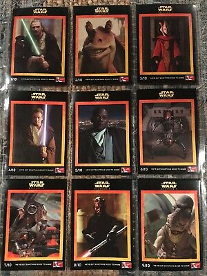 Collection Of Star Wars Episode 1 Cards