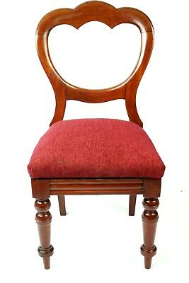 Antique Walnut Balloon Back Chair - FREE Shipping [PL4713]