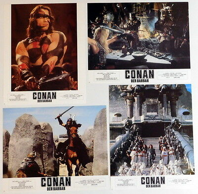 Schwarzenegger CONAN THE BARBARIAN lobby cards 24 original vintage stills 1982