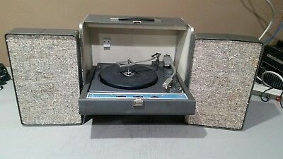 Vintage GE Trimline Stereo Record Player w/ Speakers WORKS w/ FREE SHIPPING