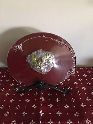 Longaberger 2011 Tree Trimming Little Holly Berry WoodCrafts Lid - Red
