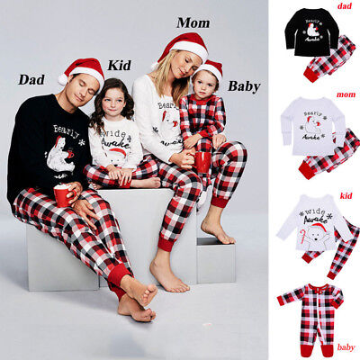 AU Pyjamas Christmas Family PJs Matching Set Dad Mum Cheeky Little Elves Xmas