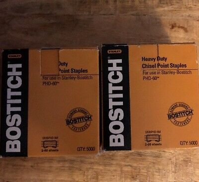 Bostitch PHD-60 Stapler Heavy Duty Premium Staples SB35PHD-5M (2 Box)