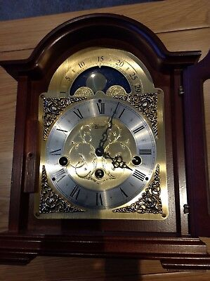 Hermle Debden Bracket Mantel Clock Moving Moon Phase 22864-070340