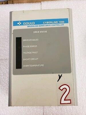 Gould 110-0091-1 Cyberline 1000 Brushless Servo Drive Controller Model CL111