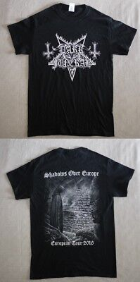 """Dark Funeral official T-shirt """"Shadows over Europe tour 2016"""" black NEW (S)"""