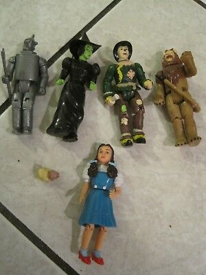 Wizard of Oz figures set 4 inches high Good Condition