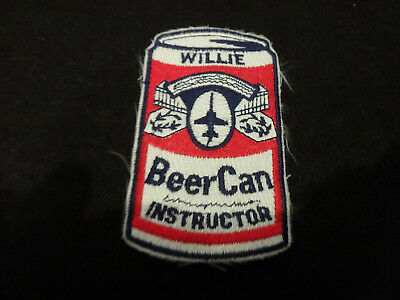 Williams AFB air force base willie  BEER Can INSTRUCTOR patch rare vietnam era