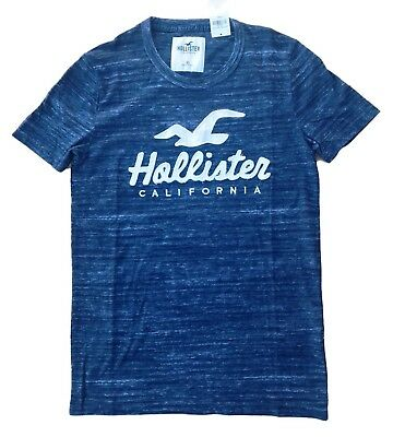 5f10f600 Hollister HCO California Mens T-Shirt Applique Logo Graphic Tee Free  Shipping