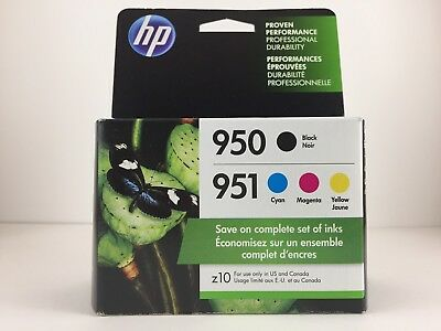 Genuine HP 950 & 951 Black and Color Ink Cartridges, C/M/Y, Combo Pack (C2P01FN)