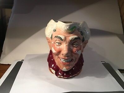 """Vintage Toby Character Jug, Large & Rare, """"The Clown"""" By Royal Doulton"""