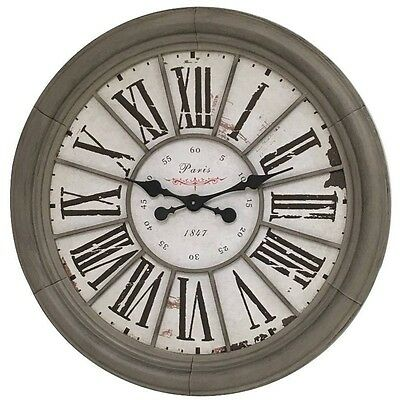 horloge mural horloge de gare pendule double face r tro classique neuf eur 27 99 picclick fr. Black Bedroom Furniture Sets. Home Design Ideas