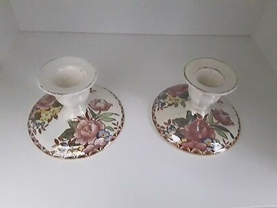 Pair Maling Rosalind Candleholders...Candlesticks...perfect