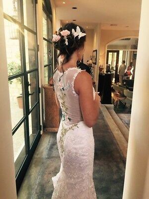 Claire Pettibone (copy) Embroidered Wedding Gown Butterflies Flowers
