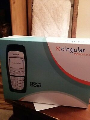 Nokia 6010 Cell Phone Cingular Box Instruction Book, No SIM Card-FREE SHIPPING