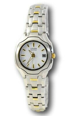 Citizen Eco-Drive EW1254-53A Women's Two-Tone Gold White Dial Stainless Watch