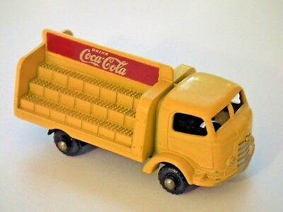 1962 Matchbox Lesney Coca-Cola Lorry Delivery Truck #37 w/ black plastic wheels