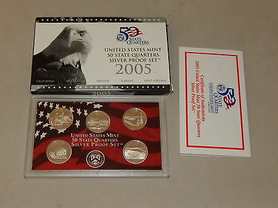 2005-S Silver US  United States Mint State Quarters Proof Set