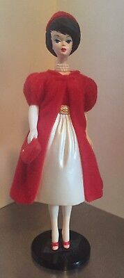 1998 Barbie Silken Flame Hallmark Ornament #5 Red Coat and Red Dress