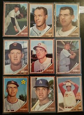 1962 Topps Baseball Lot Of (32) Different Good Condition Cards, Mixed #'s, Nice!