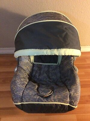 Baby Trend Ez Loc Infant Car Seat Cover Cushion Canopy Set Part Gray Yellow