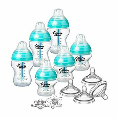 NEW Tommee Tippee Advanced Anti Colic Newborn Baby Bottle Feeding Set SHIPS FREE